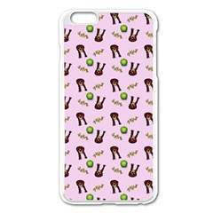 School Girl Pattern Pink Apple Iphone 6 Plus/6s Plus Enamel White Case by snowwhitegirl