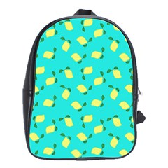 Lemons Blue School Bag (large)