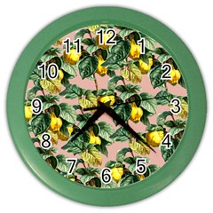 Fruit Branches Color Wall Clock by snowwhitegirl