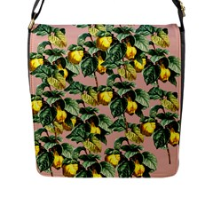 Fruit Branches Flap Closure Messenger Bag (l) by snowwhitegirl