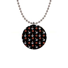 Girl With Dress Black Button Necklaces
