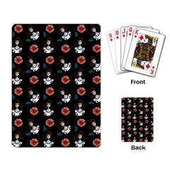 Girl With Dress Black Playing Card