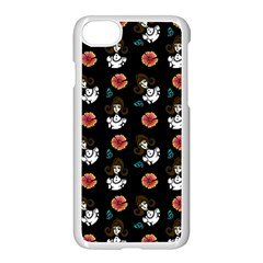 Girl With Dress Black Apple Iphone 8 Seamless Case (white) by snowwhitegirl