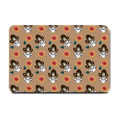 Girl With Dress Beige Small Doormat