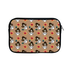 Girl With Dress Beige Apple Ipad Mini Zipper Cases