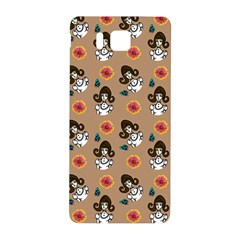 Girl With Dress Beige Samsung Galaxy Alpha Hardshell Back Case by snowwhitegirl