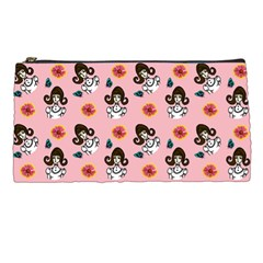 Girl With Dress  Pink Pencil Cases