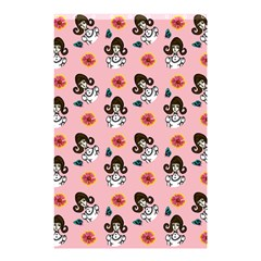 Girl With Dress  Pink Shower Curtain 48  X 72  (small)  by snowwhitegirl