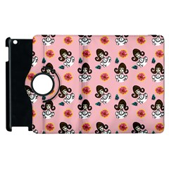Girl With Dress  Pink Apple Ipad 2 Flip 360 Case