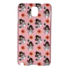 Girl With Dress  Pink Samsung Galaxy Note 3 N9005 Hardshell Case by snowwhitegirl