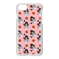 Girl With Dress  Pink Apple Iphone 7 Seamless Case (white) by snowwhitegirl