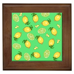 Lemons And Limes Framed Tiles