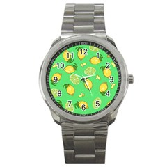 Lemons And Limes Sport Metal Watch by snowwhitegirl