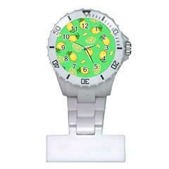 Lemons And Limes Plastic Nurses Watch by snowwhitegirl