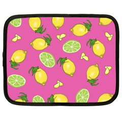 Lemons And Limes Pink Netbook Case (xxl) by snowwhitegirl