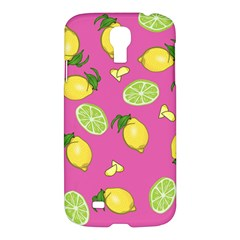 Lemons And Limes Pink Samsung Galaxy S4 I9500/i9505 Hardshell Case by snowwhitegirl