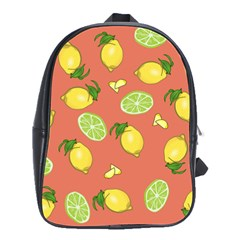 Lemons And Limes Peach School Bag (large)