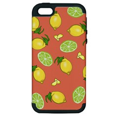 Lemons And Limes Peach Apple Iphone 5 Hardshell Case (pc+silicone) by snowwhitegirl