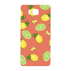 Lemons And Limes Peach Samsung Galaxy Alpha Hardshell Back Case by snowwhitegirl