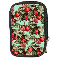 Fruit Branches Green Compact Camera Leather Case by snowwhitegirl