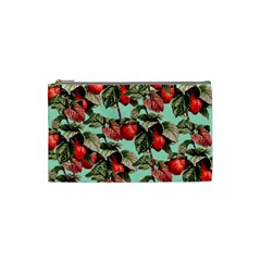 Fruit Branches Green Cosmetic Bag (small) by snowwhitegirl