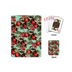 Fruit Branches Green Playing Cards (mini)