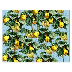 Fruit Branches Blue Rectangular Jigsaw Puzzl by snowwhitegirl