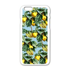 Fruit Branches Blue Apple Iphone 6/6s White Enamel Case by snowwhitegirl