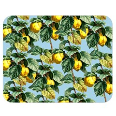 Fruit Branches Blue Double Sided Flano Blanket (medium)