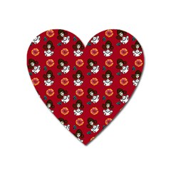 Girl With Dress Red Heart Magnet by snowwhitegirl