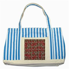 Lazy Cat Ombre Pattern Striped Blue Tote Bag by snowwhitegirl