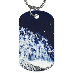 Blue Waves Sea Dog Tag (two Sides) by snowwhitegirl