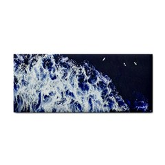 Blue Waves Sea Hand Towel by snowwhitegirl
