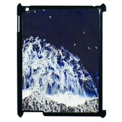 Blue Waves Sea Apple Ipad 2 Case (black) by snowwhitegirl