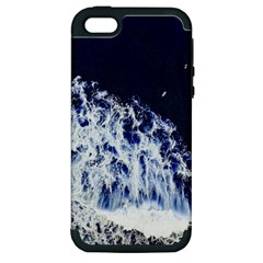 Blue Waves Sea Apple Iphone 5 Hardshell Case (pc+silicone) by snowwhitegirl