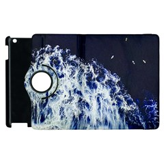 Blue Waves Sea Apple Ipad 2 Flip 360 Case by snowwhitegirl