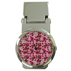 Lazy Cat Floral Pattern Pink Polka Money Clip Watches by snowwhitegirl