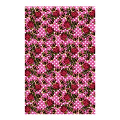 Lazy Cat Floral Pattern Pink Polka Shower Curtain 48  X 72  (small)  by snowwhitegirl