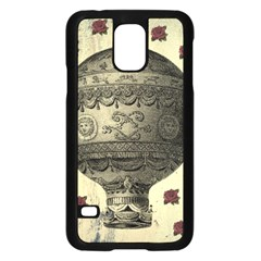 Vintage Air Balloon With Roses Samsung Galaxy S5 Case (black) by snowwhitegirl