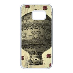 Vintage Air Balloon With Roses Samsung Galaxy S7 White Seamless Case