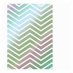 Ombre Zigzag 02 Small Garden Flag (two Sides) by snowwhitegirl