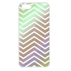 Ombre Zigzag 03 Apple Iphone 5 Seamless Case (white) by snowwhitegirl