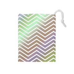 Ombre Zigzag 03 Drawstring Pouch (medium)