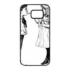 1273488150 Samsung Galaxy S7 Edge Black Seamless Case by vintage2030