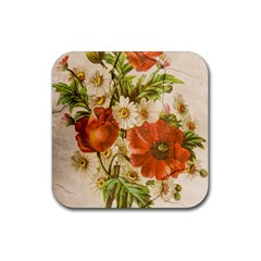 Poppy 2507631 960 720 Rubber Square Coaster (4 Pack)  by vintage2030