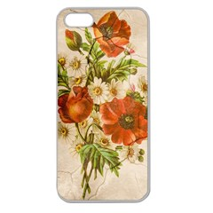 Poppy 2507631 960 720 Apple Seamless Iphone 5 Case (clear) by vintage2030
