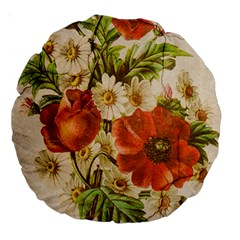 Poppy 2507631 960 720 Large 18  Premium Round Cushions by vintage2030