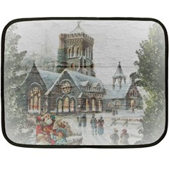 Santa Claus 1845749 1920 Double Sided Fleece Blanket (mini)  by vintage2030