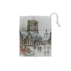 Santa Claus 1845749 1920 Drawstring Pouch (small) by vintage2030
