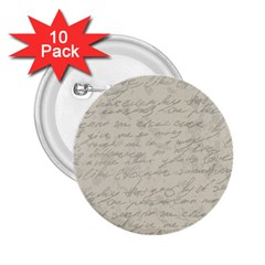 Handwritten Letter 2 2 25  Buttons (10 Pack)  by vintage2030